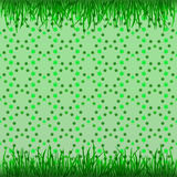 Grass up and down with green foliage pattern  Royalty Free Stock Images
