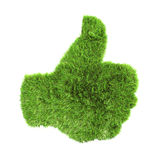 Grass up hand sign Royalty Free Stock Photography