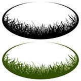 Grass vector logo. Oval grass vector logo cutout Stock Image