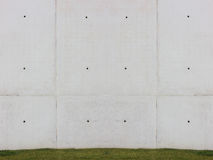 Grass and white wall Royalty Free Stock Images