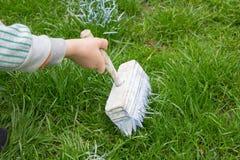 Grass whitewash Stock Image