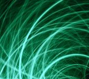 Grass in the wind, fractal generated background Stock Photos