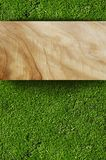 Grass and Wood Board Stock Photos