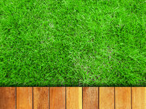 Grass and Wood Boardwalk Royalty Free Stock Images