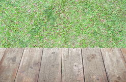 Grass and wood floor, background Royalty Free Stock Photos