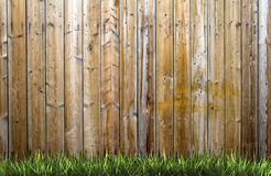 Grass and wood Royalty Free Stock Photo