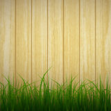 Grass and wood Royalty Free Stock Image