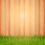 Grass on wooden background Royalty Free Stock Photo