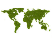 Grass world map royalty free stock image