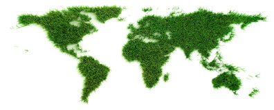 Grass world map Royalty Free Stock Photography