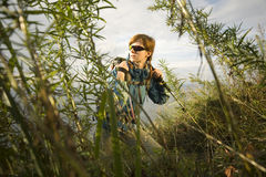 Through grass. XL size Stock Photos