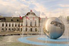 Grassalkovich宫殿,布拉索夫,斯洛伐克 库存照片