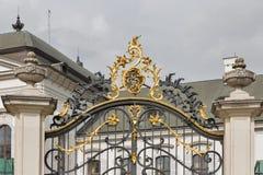 Grassalkovich slottport i Bratislava, Slovakien Arkivbilder