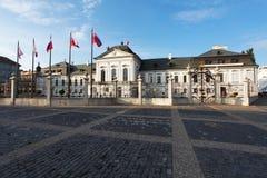 Grassalkovichov宫殿在布拉索夫,斯洛伐克 免版税库存照片