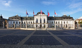 Grassalkovichov palace in Bratislava,  Royalty Free Stock Photography