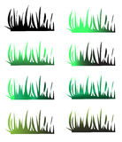 Grasschattenbilder stock abbildung