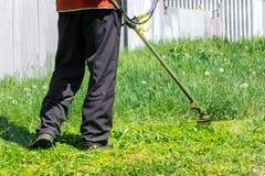 Grasscutter im Hinterhof Lizenzfreies Stockbild