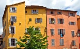 Grasse - arkitektur av den Grasse staden Arkivbild