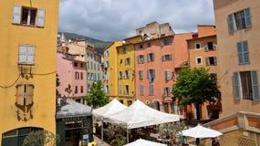 Grasse - arkitektur av den Grasse staden Arkivfoto