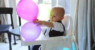 Cute Baby Boy First Birthday stock video footage