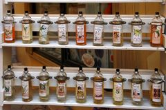 GRASSE, FRANCE - JULY 5: Grasse perfume counter, GRASSE, FRANCE Royalty Free Stock Image