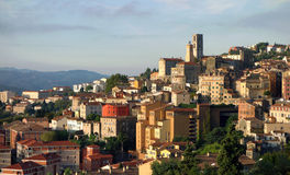 Grasse in the French Riviera. Scenic view of the town of Grasse, Alpes-Maritimes department, French Riviera, France Royalty Free Stock Photo