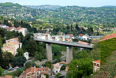 Grasse - panoramautsikt av staden Royaltyfria Foton