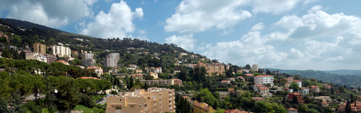 Grasse - panoramic view of city Stock Images
