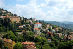 Grasse - panoramic view of city Royalty Free Stock Photos