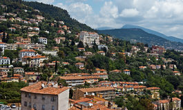 Grasse - Panoramic view of Grasse Town Royalty Free Stock Images