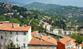 Grasse - Panoramic view of Grasse Town Royalty Free Stock Photo