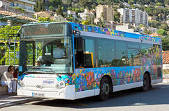 Grasse - passagerarebuss Arkivbild