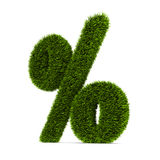 Grassed question symbol Stock Photo