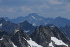 Grassengrat and mount Oberalpstock, view from mount Titlis Royalty Free Stock Photo