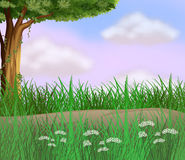 Grasses along the road. Illustration of grasses along the road Royalty Free Stock Photography