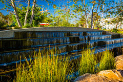 Grasses and fountains at Tongva Park, in Santa Monica  Royalty Free Stock Images