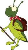 Grasshopper .Cartoon Stock Image