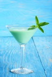 Grasshopper cocktail with mint royalty free stock photo