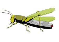 Grasshopper jet engine Stock Image