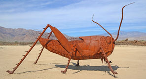 Grasshopper - Metal Sculpture Royalty Free Stock Photography