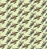 Grasshopper pattern background Royalty Free Stock Image