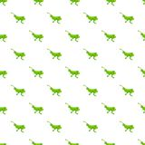 Grasshopper pattern, cartoon style Royalty Free Stock Image