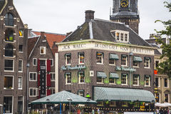 Grasshopper, typical house in Amsterdam center Stock Image