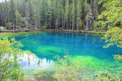 Grassi lakes. In Canadians rockies Stock Photos