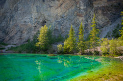 Grassi lakes Royalty Free Stock Photo