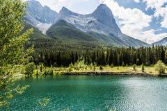 Grassi szczyt i Łup jezioro Zdjęcia Stock