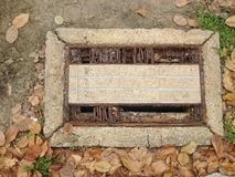 Grassing drain cap in the park Royalty Free Stock Image