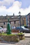 Grassington村庄在约克夏山谷和林顿的落 库存图片
