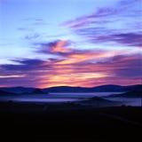 Grassland. Sun rise on  grassland , Bashang Royalty Free Stock Photos