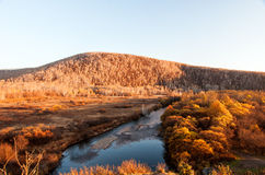Grassland autumn scenery in China. The hulunbuir landscape in China ,Inner Mongolia Stock Photos